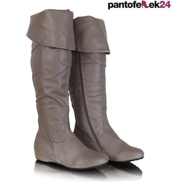 Kozaki w kolorze khaki / Khaki shoes / 39 PLN #boots #winter #kozaki #khaki #autumn