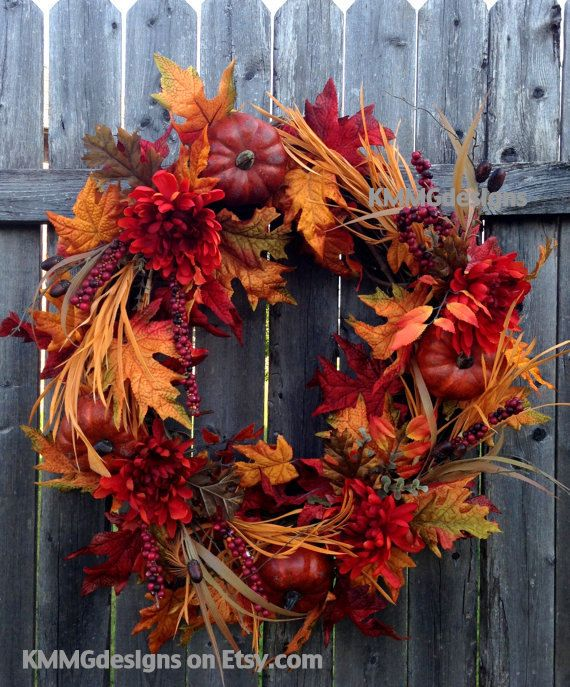 Fall Wreath, Autumn Leaf Wreath