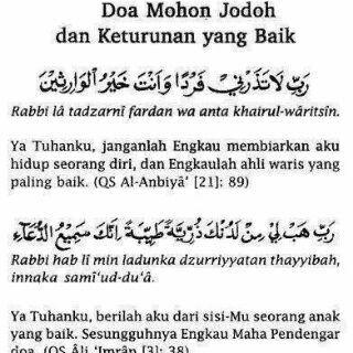 Doa meminta jodoh dan keturunan yang baik ♥♥♥♥♥
