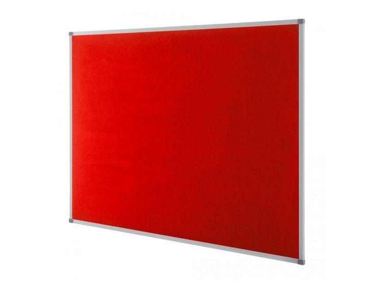 Classic Memobord Rood Vilt 60x90 cm