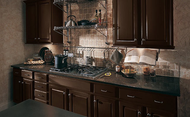 merillat classic seneca ridge square cabinets in kona dark maple kitchen cabinet kitchen remodel pinterest maple kitchen cabinets - Merillat Classic Kitchen Cabinets