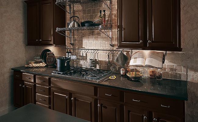 merillat classic seneca ridge square cabinets in kona dark maple kitchen cabinet kitchen remodel pinterest maple kitchen cabinets - Merillat Classic Kitchen Cabinets