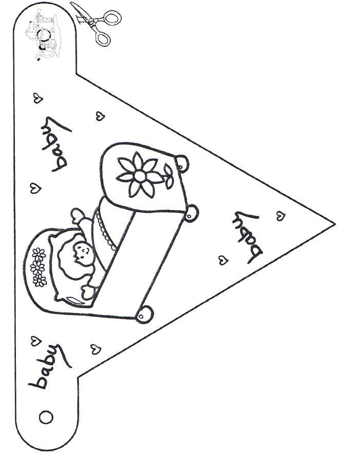 Vlaggetjes slinger voor broertje/zusje van klasgenootje