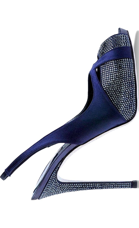 8207 Best Berry Blue Images On Pinterest Feminine Fashion Austin Sandal Mercedes Navy 38 Ren Caovilla Leather Slingback Pump W Stud Accents 2015