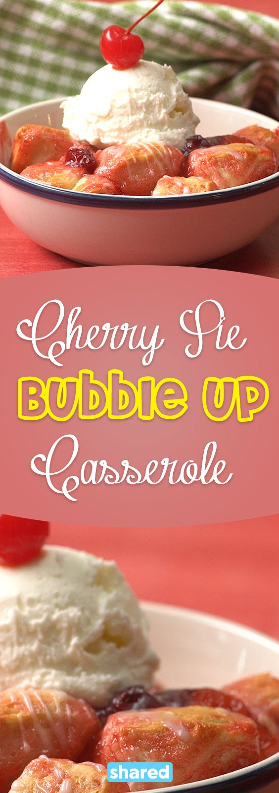 I know the feeling, you've got a crowd of people to serve dessert to, but you just don't know what to make! Who wants to slave over a cake when you can make a quick and easy Cherry Pie Bubble Up Casserole?! This recipe is seriously the simplest, most delicious dessert you'll come across. All you need is some canned biscuit dough, cherry pie filling, and to whip up a quick glaze for when it comes out! You'll love this scrumptious treat!