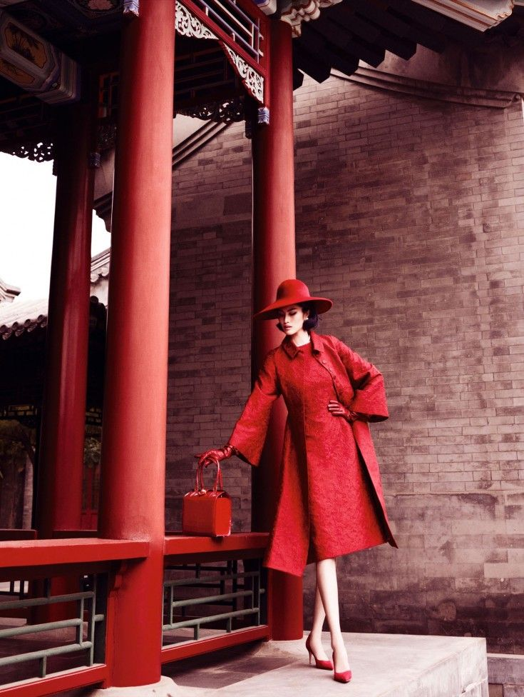 FASHION EDITORIAL: Sui He by Mario Testino for Vogue China December 2013