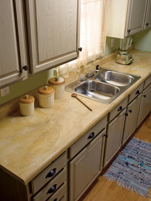 Painting Countertops Laminate Kitchen Counters Faux Granite