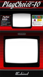 Dr. Mario - playchoice VCabinet artwork