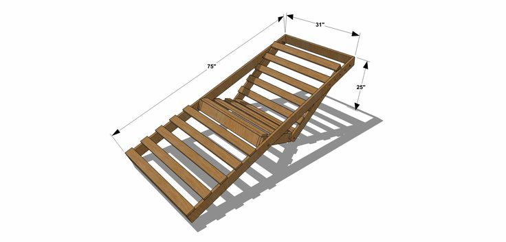 Free DIY Furniture Plans // How to Build an Indoor Outdoor Single Futon Chaise Lounge | The Design Confidential