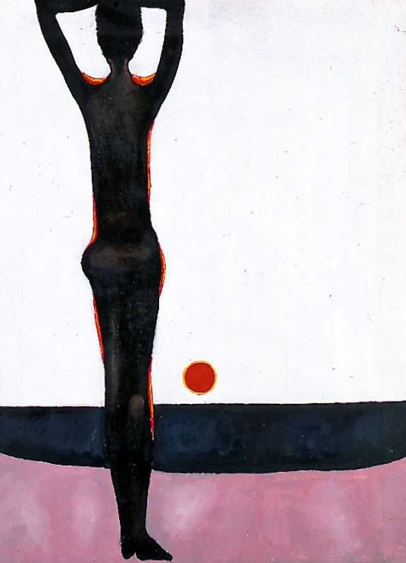 Jerzy Nowosielski, Bez tytułu (Czarny akt), 1983.