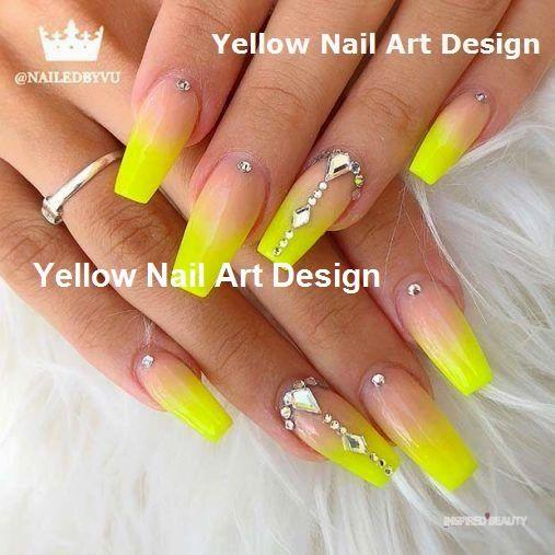 23 große gelbe Nail Art Designs 2019 1 #nails