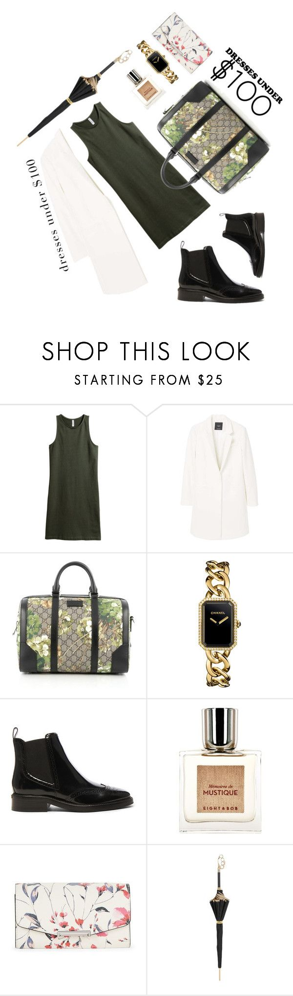 """""""Wednesday"""" by dreamclouds ❤ liked on Polyvore featuring MANGO, Gucci, Chanel, Burberry, Eight & Bob, Ivanka Trump and Pasotti Ombrelli"""
