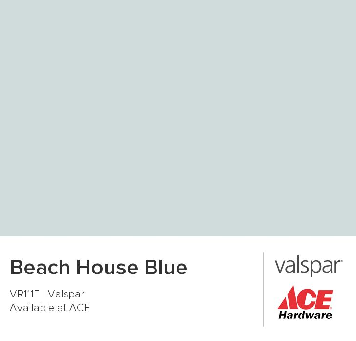 Ace Valspar Beach House Blue VRlllE.  Chip color is more seafoam green, than blue, as shown in this online picture.