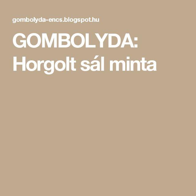 GOMBOLYDA: Horgolt sál minta