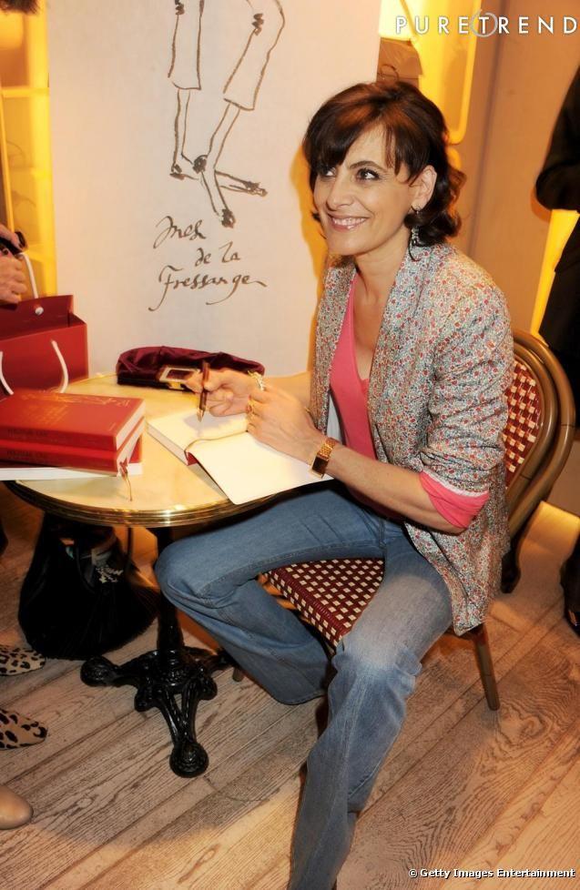 Inès de la Fressange lors d'une soirée de lancement pour son livre  La Parisienne .