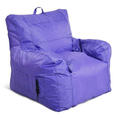 Jordan Manufacturing Company BBSMARMPK1-PUR Small Arm Chair Purple Bean bag