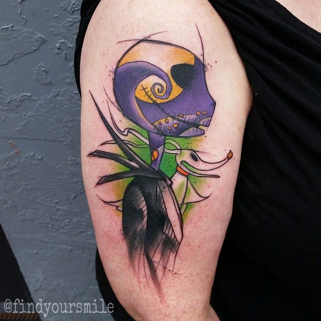 nightmare before christmas watercolor tattoo - Google Search