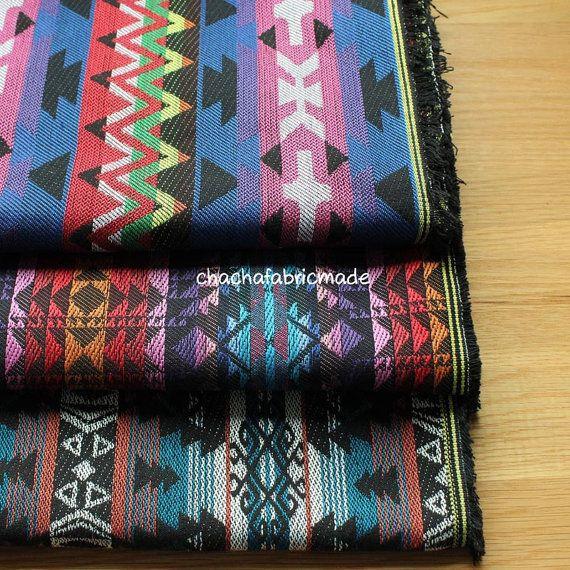 BOHO épais Bohème tissu tissu ethnique Navajo tissu tissu mexicain tissu Tribal aztèque tissu tissu péruvien Stripe tissu-moitié cour