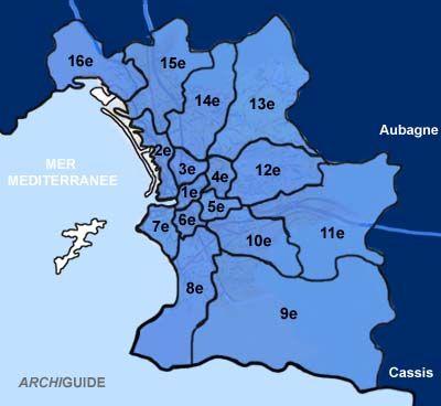 Marseille,  arrondissements