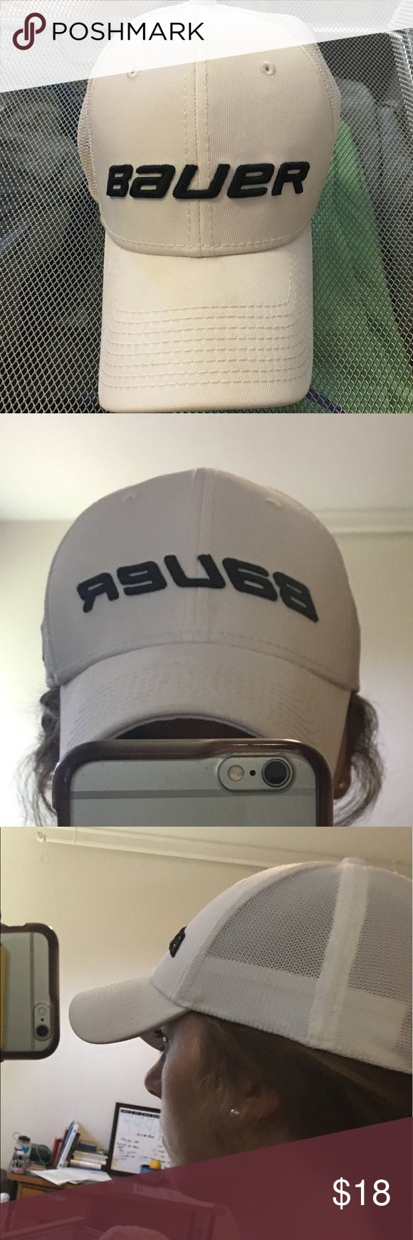 White Bauer Hockey hat Like new! Hardly worn--maybe twice. Downsizing my closet. No stains. Smoke free. No pilling. Not stretched out. Size S/M. bauer Accessories Hats