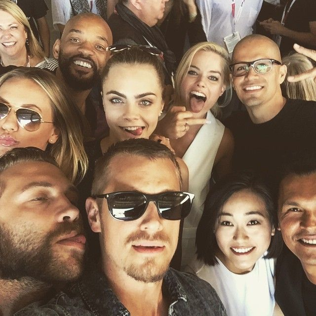 I love my squad!! #suicidesquad #comicon @jaicourtney @margotrobbie @caradelevingne #willsmith @jayhernandez001 @karenfukuhara @adamrbeach