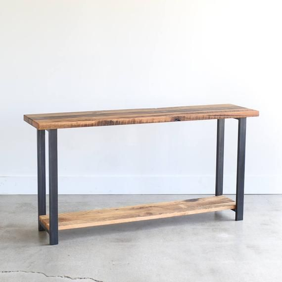 Console Table With Lower Shelf Reclaimed Wood Sofa Table Reclaimed Wood Console Table Wood Sofa Table Farmhouse Console Table