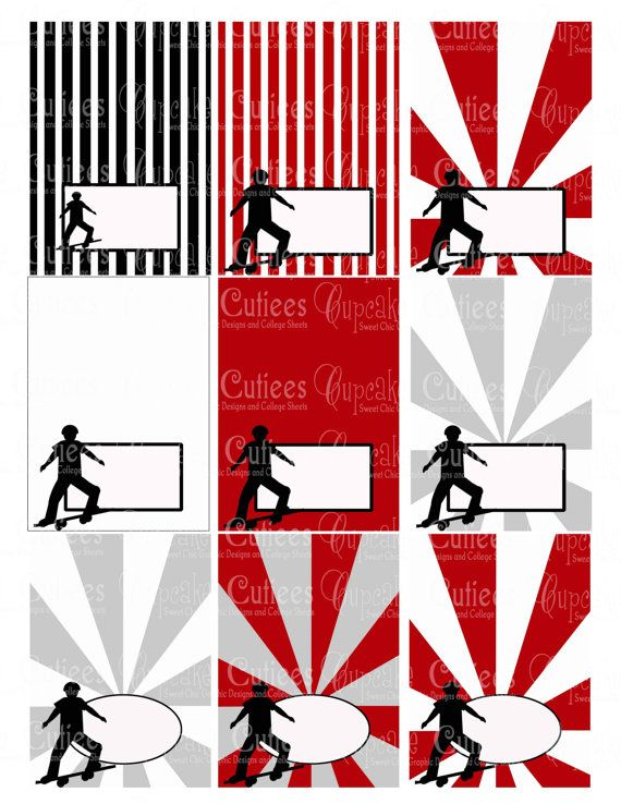Skater Boy  Digital Collage Table TeNts N by CupcakeCutieesParty, $3.50