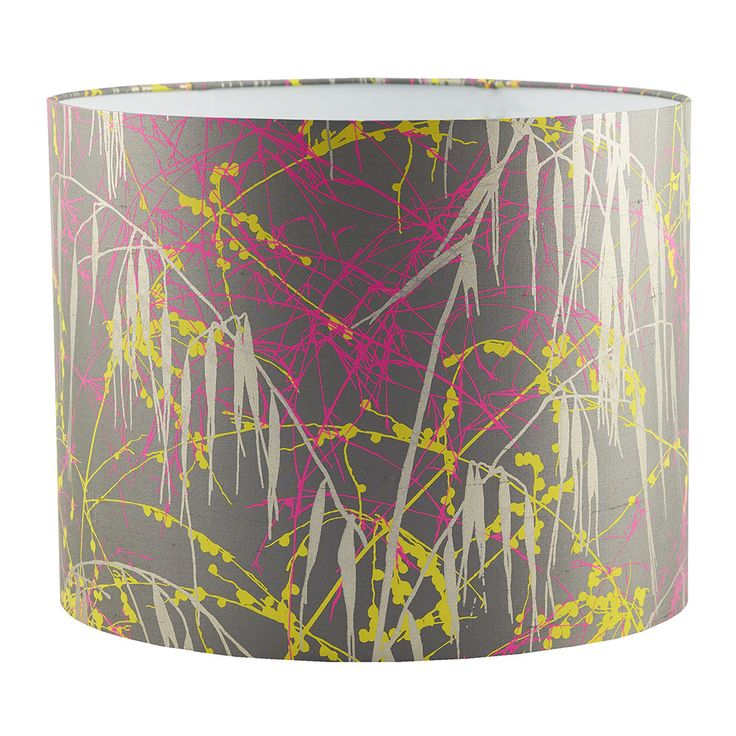 Discover the Clarissa Hulse Three Grasses Lamp Shade - Storm/Neon/Sulphur at Amara