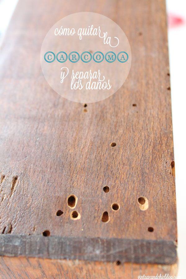 Cómo quitar la carcoma o polilla de un mueble · How to get rid of woodworm