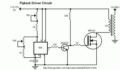 flyback transformer wiring diagram with Circuitos on 19224482 together with Tesla Coil Schematic Wiring Diagram besides Tesla Coil First Attempt as well Ignition Coil Driver By Ic 555 2n3055 additionally Vernier Caliper Parts Diagram.