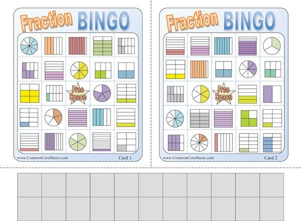 Best 20+ Fraction Bingo ideas on Pinterest | Fraction games, Math ...