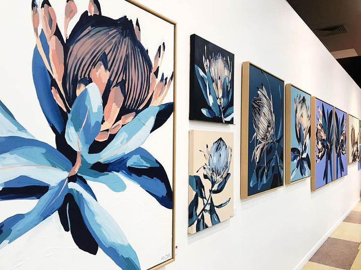 """1,266 Likes, 36 Comments - Anya Brock (@anyapaintface) on Instagram: """"PROTEA is on for a month at our Fremantle gallery at @many6160. All works and prints available…"""""""