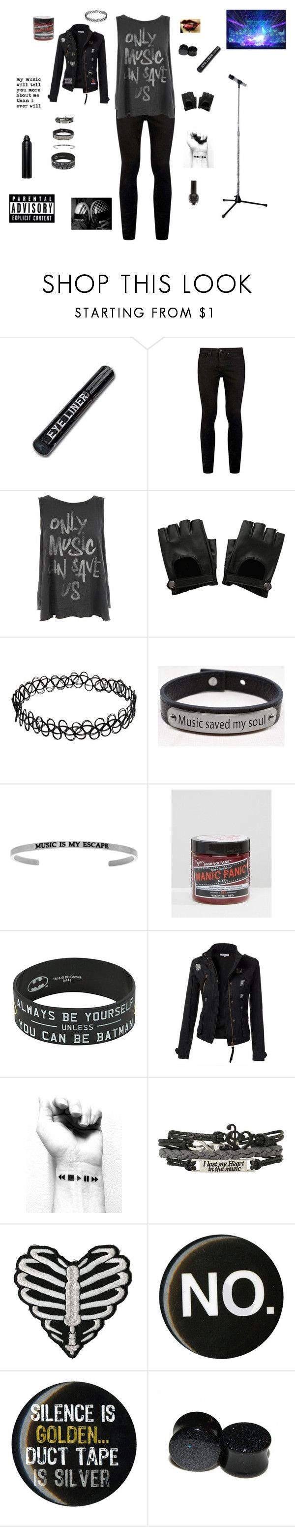 """You'll Never Take Me Alive, Do What It Takes To Survive Cause I'm Still Here"" by falloutromanceandthecellabration ❤ liked on Polyvore featuring Topman, Junk Food Clothing, Hot Topic, Pink Box, Manic Panic NYC and Oribe"
