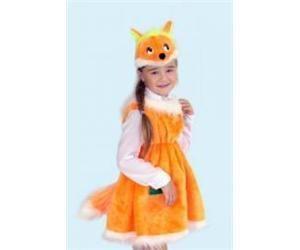 Детский новогодний карнавальный костюм лисы