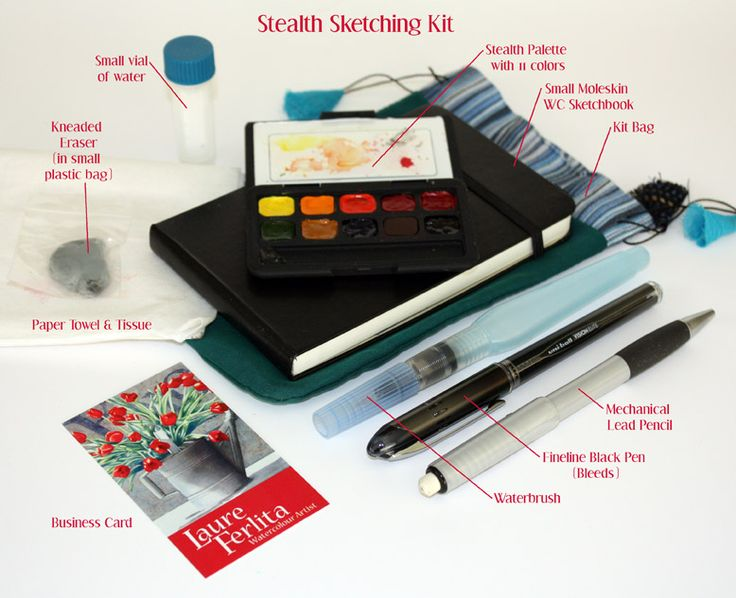 below is an image of my sketching kit this is what travels with me wherever i may go i have found that when i least expect it i