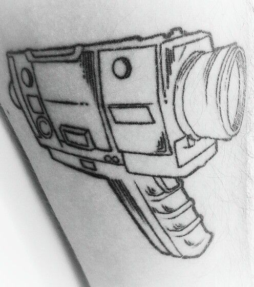 Super 8 Camera Outlines Tattoo Artist: Atila (Tattoo Ink, SP, Brazil)