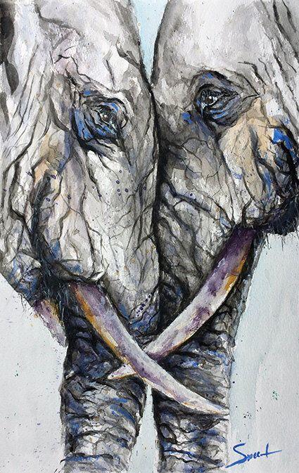 ELEPHANT ART PRINT - watercolor elephant, abstract elephant, elephant painting, elephant decor, elephant wall art by SignedSweet on Etsy https://www.etsy.com/listing/172378165/elephant-art-print-watercolor-elephant
