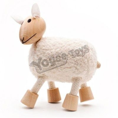 Wooden toys. Wooden sheep. Transitional toys. Old school toys. Sensory toys