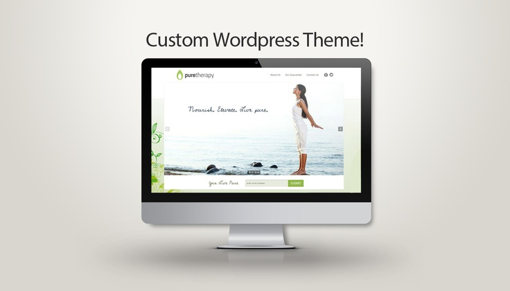 'Pure Nature' Custom Wordpress Website