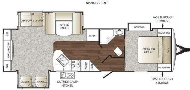 Floorplan - 2011 Keystone RV Outback 298RE