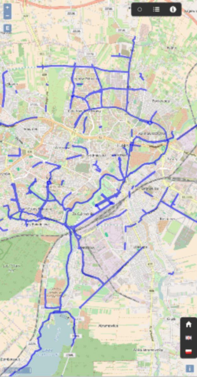 Mobilna wersja strony. Zawiera infrastrukturę rowerową, usługi (sklapy, serwisy, itp), wypożyczalnie rowerów, parkini rowerowe