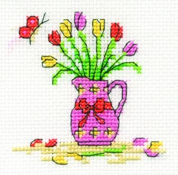 Tulips and Jug, from @DMC Creative World, UK.