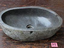 Waschbecken Fluß Stein Natur Findling Waschschale