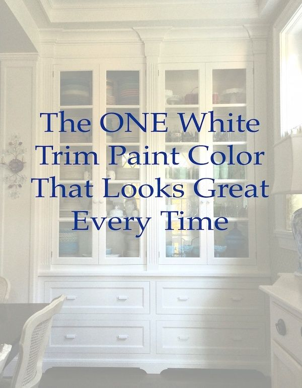 I would ask you to do a paint consultation, but I'm afraid... Just tell me the ONE white trim color that will look good with everything! I'm going crazy...