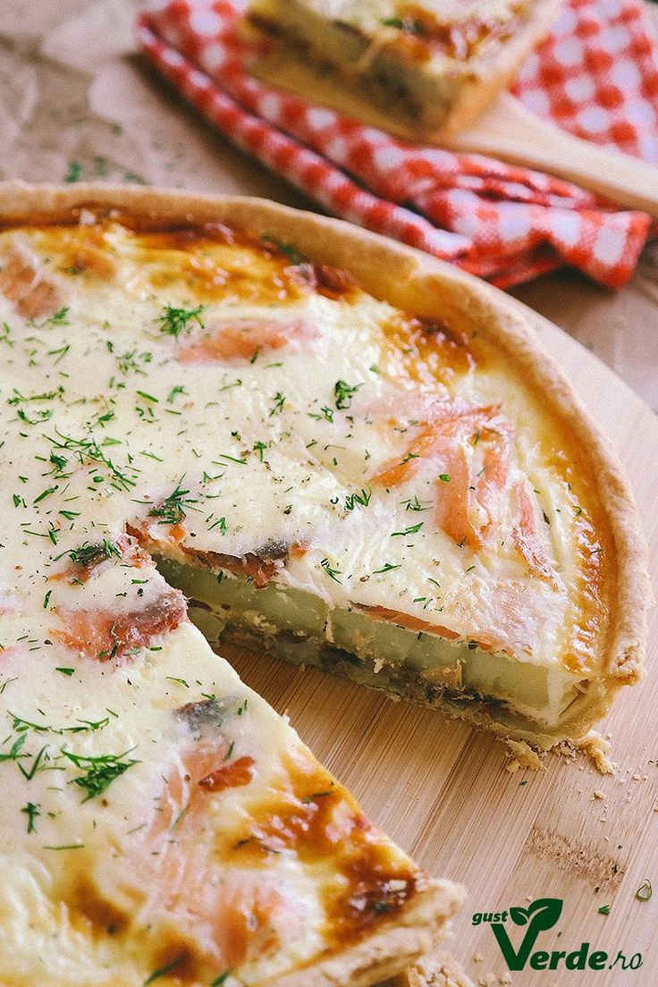 Gust Verde: Tarta delicioasa cu somon afumat