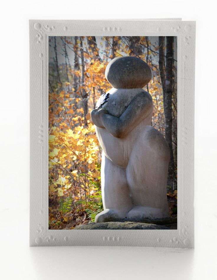 Fine Art Blank Note Cards; Set of 3 Greeting Cards; Haliburton Sculpture Forest; Mother's Day; Mounted Art Photos; Custom Orders Available by MissmacMemories on Etsy