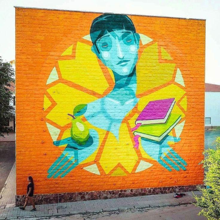 """regram @tschelovek_graffiti """"El Licenciado Vidriera"""" by @zesarbahamonte in Almagra Castilla Spain for @festivaldealmagro #festivaldealmagro. #zesarbahamonte #zesar #Almagra #streetartspain #spainstreetart #spaingraffiti #graffitispain #graffitiespaña #streetartespaña #граффити_tschelovek #streetart #urbanart #graffiti #стритарт #граффити #wallart #graffitiart #wallpainting #muralpainting #artederua #arteurbana #muralart #graffiticulture #graffitiwall #graffitiartist #streetart_daily…"""