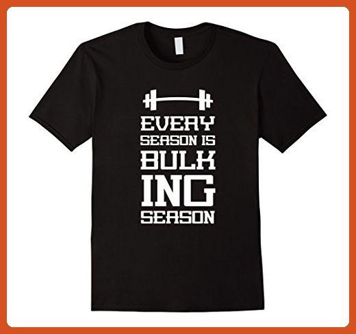 Mens Every season is bulking season Workout Humor T shirt  3XL Black - Workout shirts (*Partner-Link)
