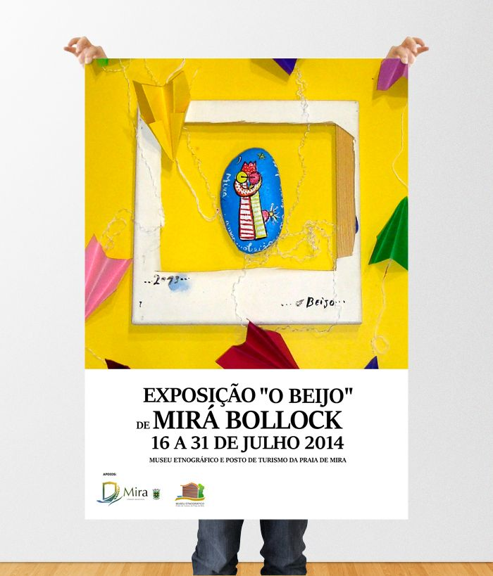 Poster for the Exhibition of Mirá Bollock paintings by Dipe