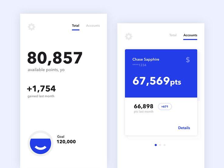 Credit Card Points - via @designhuntapp